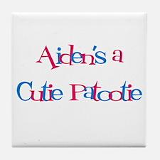 Aiden's a Cutie Patootie Tile Coaster