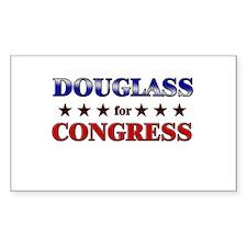 DOUGLASS for congress Rectangle Decal