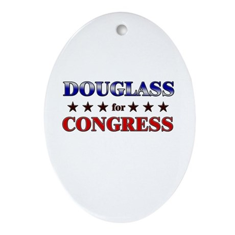 DOUGLASS for congress Oval Ornament