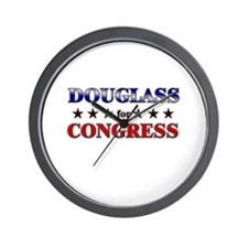 DOUGLASS for congress Wall Clock