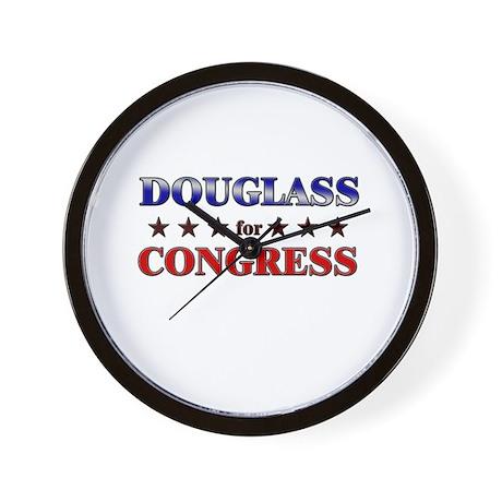 DOUGLASS for congress Wall Clock