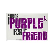 I Wear Purple For My Friend 6 (PC) Rectangle Magne