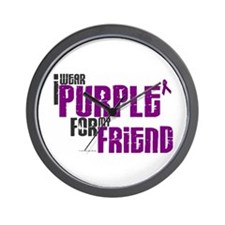 I Wear Purple For My Friend 6 (PC) Wall Clock