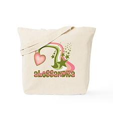 Rainbows & Stars Alessandra Personalized Tote Bag