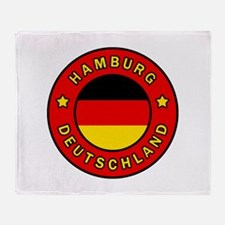 Hamburg Germany Throw Blanket