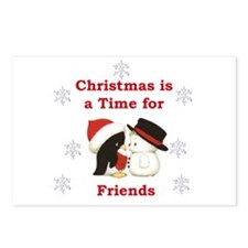 Christmas Friends Postcards (Package of 8)
