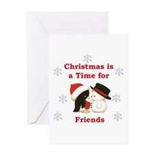 Christmas Friends Greeting Card