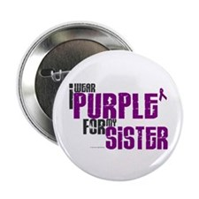 "I Wear Purple For My Sister 6 (PC) 2.25"" Button"