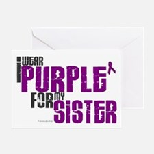 I Wear Purple For My Sister 6 (PC) Greeting Card