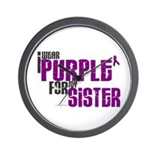 I Wear Purple For My Sister 6 (PC) Wall Clock