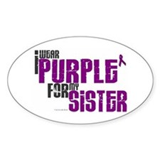 I Wear Purple For My Sister 6 (PC) Oval Decal