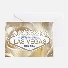 Fabulous Las Vegas White Satin Rose Cards 10