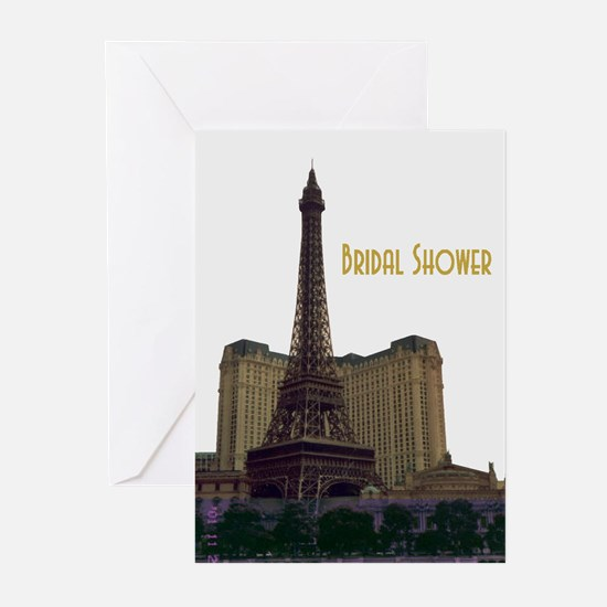 Las Vegas Eiffel Tower Bridal Shower Cards 10