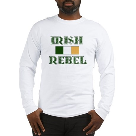 Irish Rebel w/Flag Long Sleeve T-Shirt