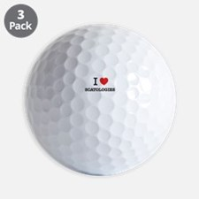 I Love SCATOLOGIES Golf Ball