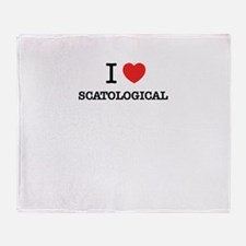 I Love SCATOLOGICAL Throw Blanket