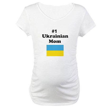 #1 Ukrainian Mom Maternity T-Shirt