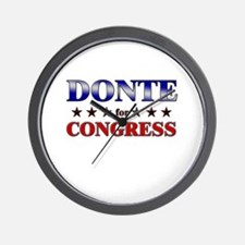 DONTE for congress Wall Clock