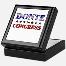 DONTE for congress Keepsake Box