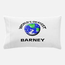 World's Okayest Barney Pillow Case