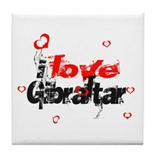i love Gibraltar Tile Coaster