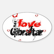 i love Gibraltar Oval Decal