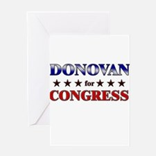 DONOVAN for congress Greeting Card