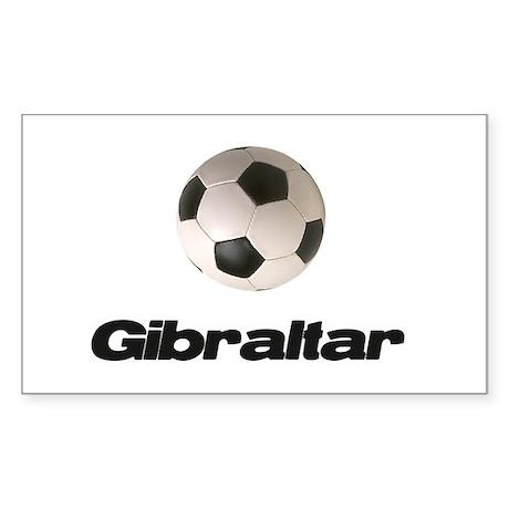 Gibraltar Soccer Rectangle Sticker