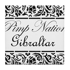 Pimp nation Gibraltar Tile Coaster