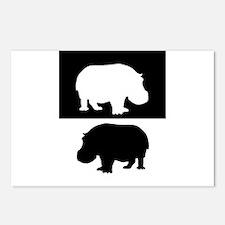 Hippopotamus Postcards (Package of 8)