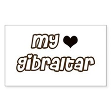 my heart Gibraltar Rectangle Decal