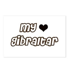 my heart Gibraltar Postcards (Package of 8)