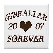 Gibraltar Forever Tile Coaster