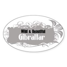 Wild Gibraltar Oval Decal