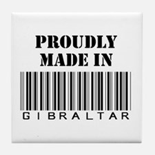 Proudly made in Gibraltar Tile Coaster