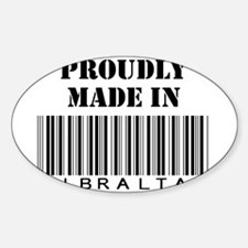 Proudly made in Gibraltar Oval Decal