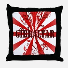 Red vintage Gibraltar Throw Pillow