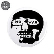 """No War 3.5"""" Button (10 pack)"""