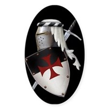 Knights Templar Oval Decal