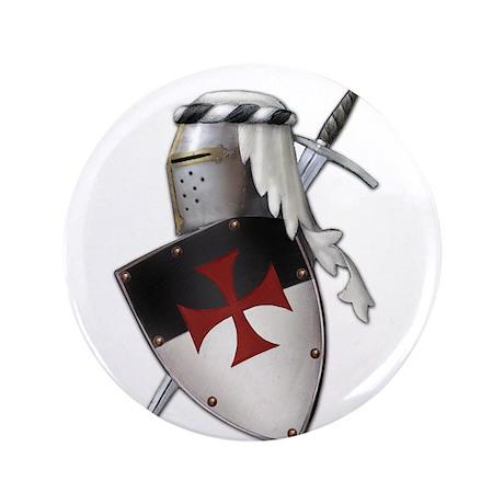 "Knights Templar 3.5"" Button"
