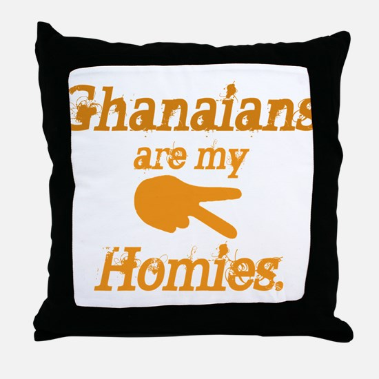 Ghanians are my Hoimes Throw Pillow