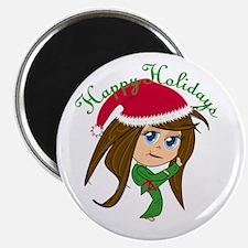 Kicking Spirit Happy Holidays Magnet