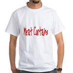 Meat Curtains White T-Shirt