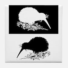 Kiwi birds Tile Coaster