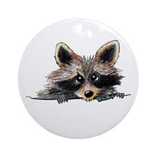 Pocket Raccoon Ornament (Round)