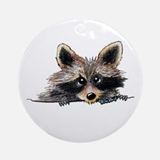 Pocket Raccoon Ornament (Round)