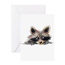 Pocket Raccoon Greeting Card