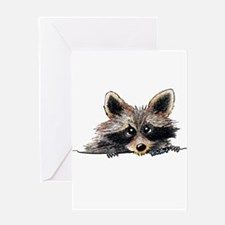 Pocket Raccoon Greeting Card