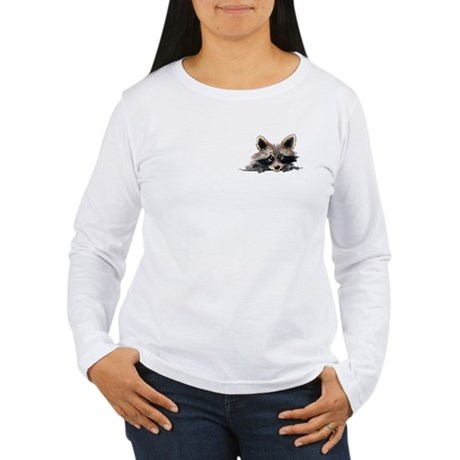 Pocket Raccoon Women's Long Sleeve T-Shirt