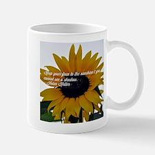Helen Keller Sunflower Quote Mugs